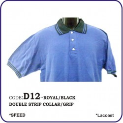 T-Shirt Lacoast D12 - Royal/Black