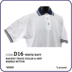 T-Shirt Lacoast D16 - White/Navy