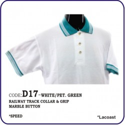 T-Shirt Lacoast D17 - White/Petronas Green