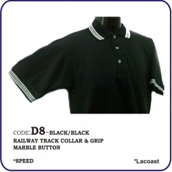 T-Shirt Lacoast D8 - Black/Black