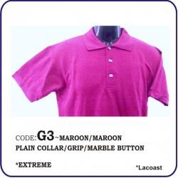 T-Shirt Lacoast G3 - Maroon/Maroon