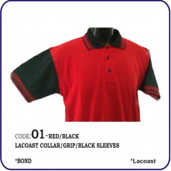 T-Shirt Lacoast O1 - Red/Black
