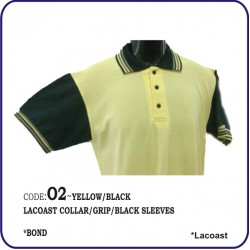 T-Shirt Lacoast O2 - Yellow/Black