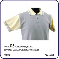 T-Shirt Lacoast O5 - Dark Grey/Beige